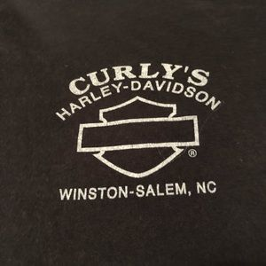Harley-Davidson Tops - Curly's Harley Davidson Wings Tee Black/gray Med